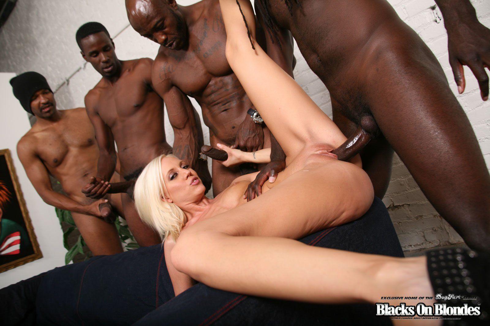 4 Porn Ganbang gang bang black on blond xxx top compilation.