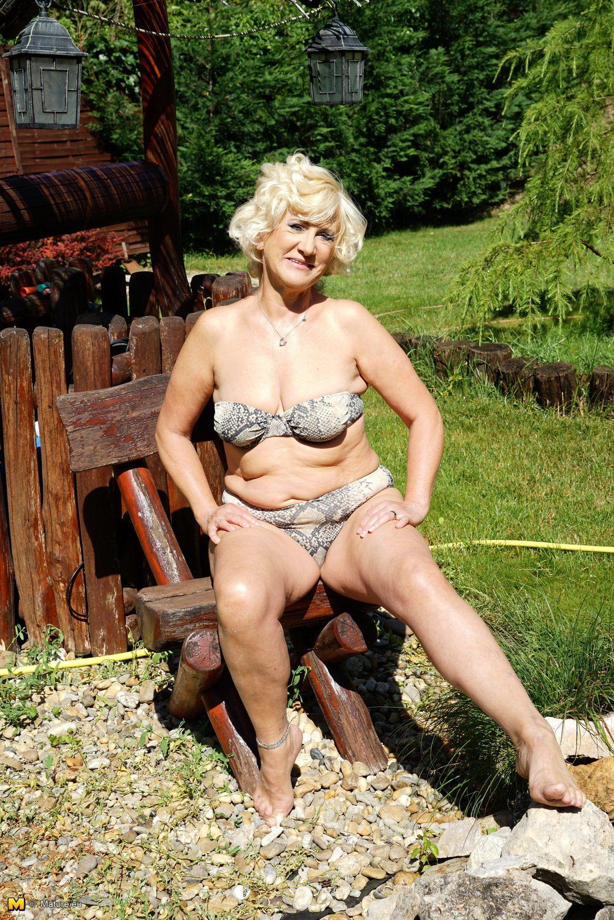Mature outdoor woman