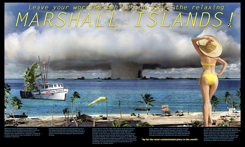 Atomic test at bikini atoll